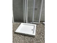 Shower tray and side panel/ door