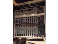 PEAVEY PV-14 14-channel Unpowered Mixer w/ DSP, 3-Band EQ ,Phantom Power, C/W FLIGHT CASE
