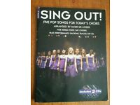 Choir song book 'Sing Out!' with 2 CDs
