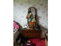 Wardrobe, side board and dressing table