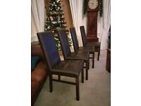 High Quality Leather Dining Chairs ×4