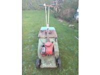 vintage hayter harrier self propelled mower with rear roller 3.5hp briggs & stratton engine