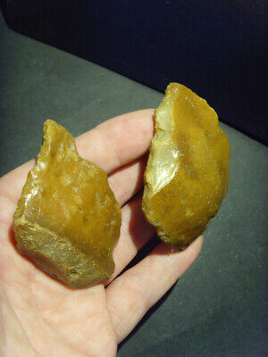 Lower Palaeolithic - Two acheulean points - UK C.450,000+ BP