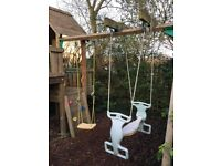Jungle gym - tower, slide and swings
