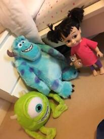 Monster inc teddy's and doll