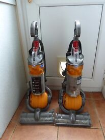 2 Dyson DC24 vacuum cleaners for spares or repair