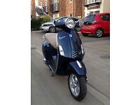 Piaggio Vespa Primavera 50 2T Midnight Blue 2014 14 Reg, 3417 miles