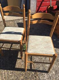 Two dining chairs