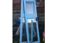 FREE Set of blue shed doors. And window.