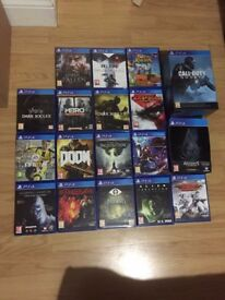 selection of ps4 games