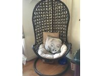 NEXT Rattan Swing Chair with two cushions
