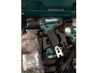 Makita cordless drill and impact driver with multi tool