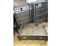 Metal underbed storage draws