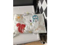 Brand new baby's cot bedding set and matching light