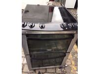 ZANUSSI STAINLESS STEEL 60cm FREE STANDING ELECTRIC COOKER, 4 MONTHS WARRANTY