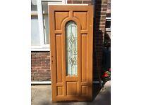 High quality Oak veneer Timber entrance door. solid 840mm x 1955 mm
