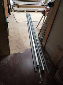Suspended ceiling framework (metal channels)