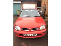 NISSAN MICRA 1.0 Automatic 3dr Red 77694 miles