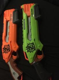 Nerf guns X2
