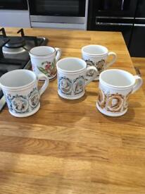 Denby mugs x 5 brilliant condition