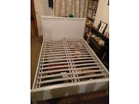 IKEA ASPELUND Double Bed frame - White