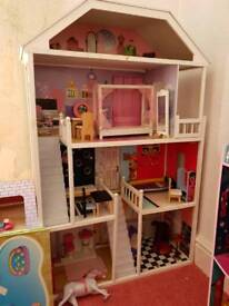 Dolls house with furniture plus more
