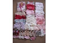 baby girls clothes 0-3 months( newborn, up to 1 month and up to 3) bundle