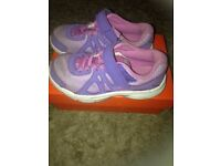 Girls Nike lilac and purple Velcro trainers