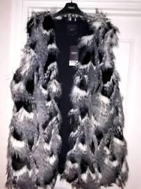BNWT Next size16 fur gillet