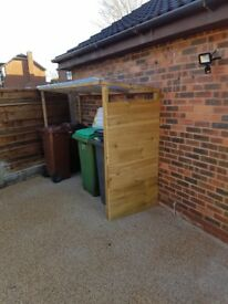 TIMBER COVERED BIN STORE - brand new delivered / installed - ANY LOCATION