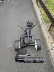 Frazer golf trolley with battery charger