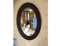 Old mahogany wall mirror