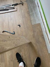 Light Oak Laminate Flooring - Covers 3xInstalled 18 Months Ago