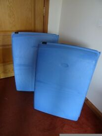 Two Large Wheeled Carlton Hard Shell Suitcases