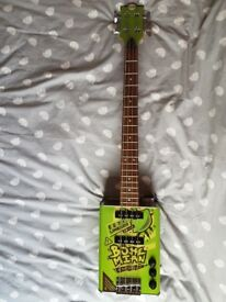 Bohemian Oil-Can Bass Guitar - Lime Green