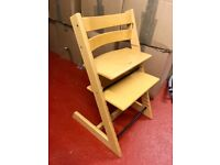 Stokke Tripp Trapp high chair with baby set and cushions