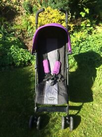 OBABY Purple Pushchair/Buggy