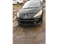 Peugeot 207 2006 1.6 diesel 3 Door Black EC dv6ted4 (9hz).