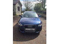 Metallic blue, Sline Audi A3, 3 door sports addition