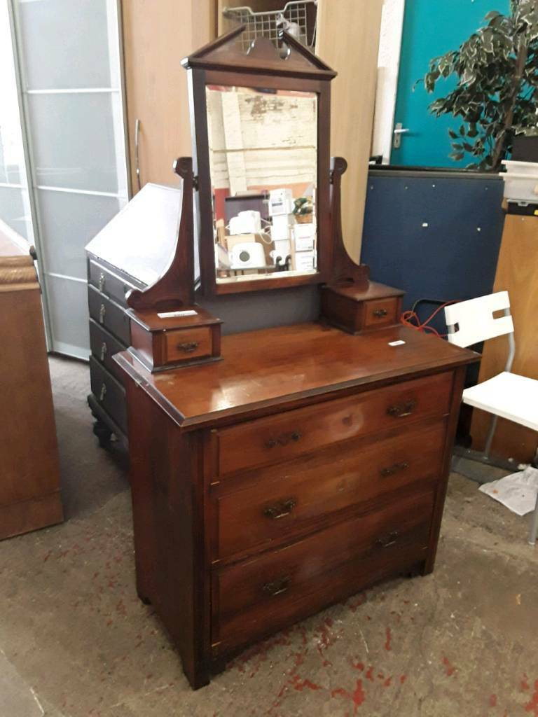 Vintage Bedroom Dresser With Mirror. Del Available