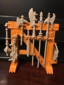 He man castle grayskull weapons rack. 1980s