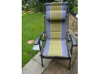 2 X Quest Elite Reclining Chairs with side Table X2