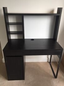 black desk ikea