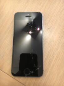 I phone 5s cracked screen