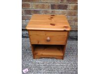 1 x small pine bedside chest