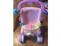 Fisher Price first steps Baby Girl baby walker