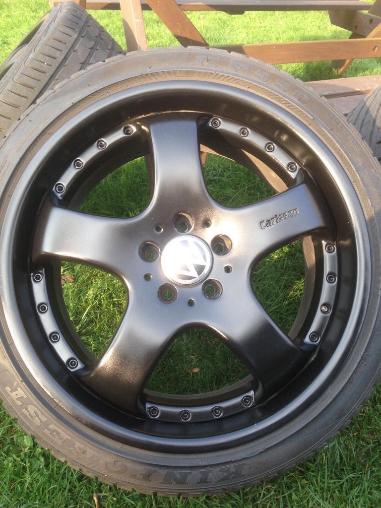 "19"" carlsson 5x112 alloy wheels fit Mercedes vw Audi"
