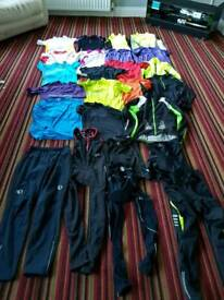 Huge bundle of mens and women's cycling clothes hundreds of pounds worth. All new or like new