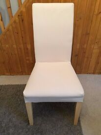 6 x Cream Upholstered Dining Room Chairs