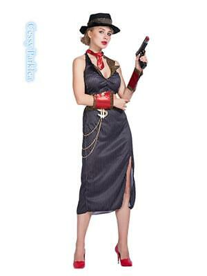 1920 Womens Gangster Costume (Gangster's Moll Costume Mafia Moll Womens 1920's Razzle Party Fancy)